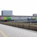 レインボーカラーの奈良駅