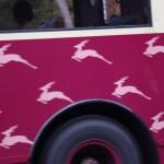 シカがシンボルのバス