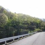 向陽台から入る登山路
