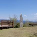 高鈴山山頂の標高表示