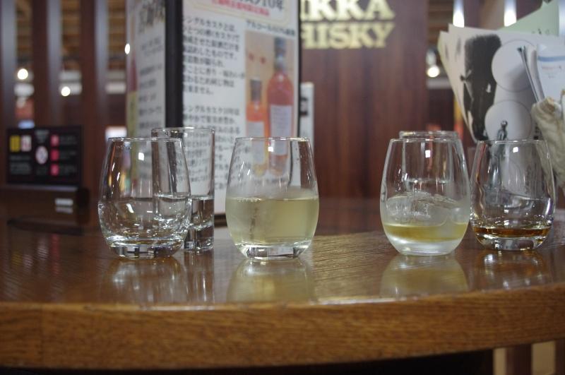 試飲で出されたグラスたち