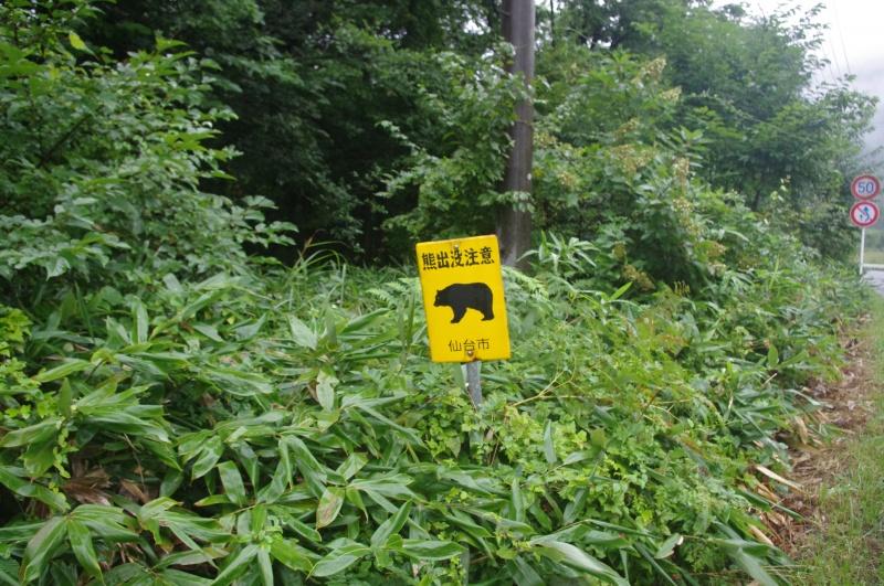 熊出没注意の立札